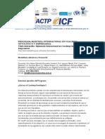 Maestria Internacional en Coaching Ontologico y Empresarial