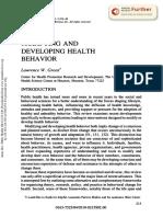 Modifying and Developing Health Behavior