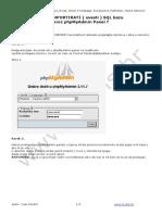 Import SQL Baze PhpMyAdmin