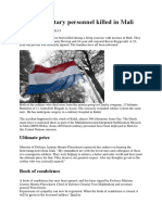 2 Dutch Military Personnel Killed in Mali