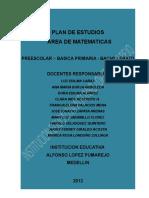 Plan General Area Matematicas Alpuma 2012