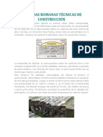Calzadas Romanas Técnicas de Construcción