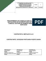 Procedimiento de Trabajo Para El Traslado e Instalación de Interruptores de Flujo