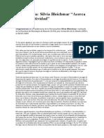 Silvia Bleichmar - Conferencia - Acerca de La Subjetividad