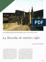 (Historia Del Mundo Tomo 10_ Capítulo 10, Páginas 337 a 352) Julián Marías-La Filosofía de Nuestro Siglo. 10-Salvat (1970)