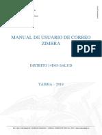 Manual de Uso Zimbra