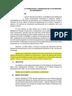 Estructura Plan Regional de Saneamiento