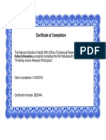 certificate of completion nih protecting human research participants