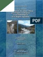 Zonas Criticas Apurimac 2012