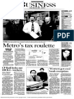 Metro's tax roulette
