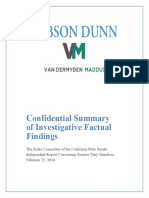 Summary of sexual misconduct findings involving Sen. Tony Mendoza