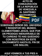 Acto de Consagración de La Republica Al Sacramento Del Altar