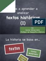 Análisis de textos históricos (I)