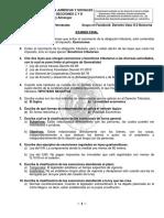 Cuestionario Derecho Tributario. Examen Final 2017