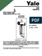 Manual de Partes de Polipasto ACL
