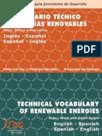 diccionario energias renovables-solar,eolica e hidraulica ingles-español