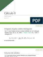 Cálculo II Aula 14 UFRPE 2017