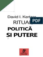 David I. Kertzer - Ritual, Politică Și Putere