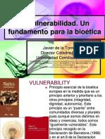 La Vulnerabilidad en Humanizacion