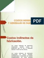 Costos Indirectos y Generales de Fabricacion