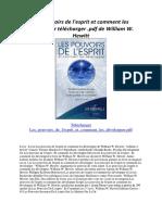 Copy of Les Pouvoirs de l'Esprit Et Comment Les Développer