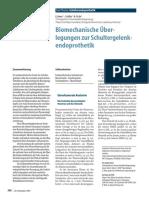 Biomechanische Über- legungen zur Schultergelenk- endoprothetik