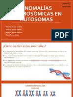 Anomalías Cromosomáticas en Autosomas