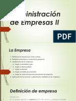 Administración de Empresas II