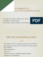 Investigacion Ex Post Facto