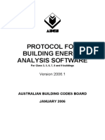 Protocol for Building Energy Analysis Software 2006