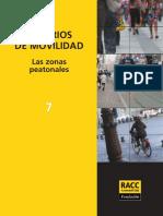 Criterios de Movilidad - Zonas Peatonales