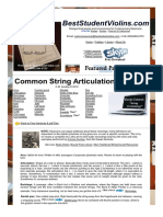 Common String Articulation Terms