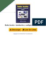 8478978860 Redes Locales Instalacin y Configuracin Bsicas by Miguel Ngel Martnez Ruiz Jos Luis Raya Cabrera Laura Raya Gonzlez
