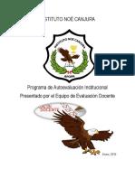 Plan de Autoevaluación Institucional