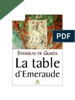 De Guaïta Stanislas - La Table d'Émeraude Ou La Lumière Astrale