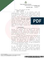 Resolución de Casación Ante Un Reclamo de Luis D'Elía