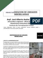 Subdivicion, Independizacion y Acumulacion