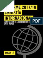 Informe 2017 / 2018 Amnistia Internacional