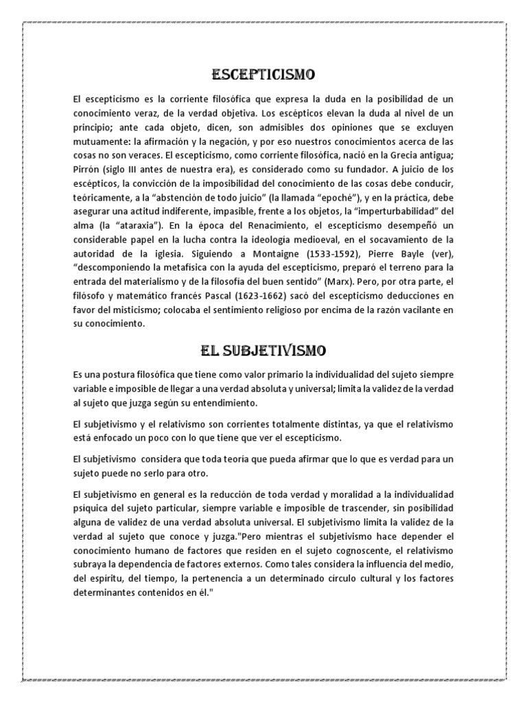 Corrientes Filosoficas Relativismo Ateísmo