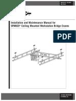 Ceiling-Mounted Workstation Bridge Crane 103-0010-2