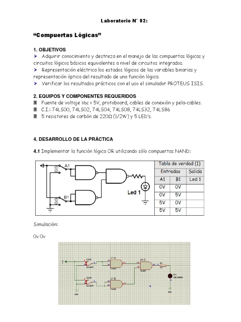Circuito Xor Equivalente : Previo circuitos digitales