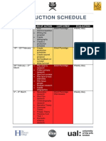 production schedule  weekly