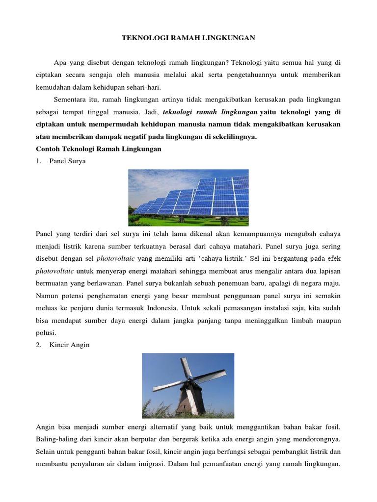 Teknologi Ramah Lingkungan Docx