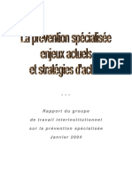 Rapport Prevention Specialisee