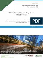 Administración BIM Para Infraestructura OpenBIM 2017