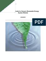 Model User Guide for Generic Renewable Energy System Models