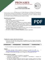 CONVOCATORIA PRONABES 2010-2011