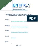 Informe de la I Rotación Clinica Cientifica del Sur.docx