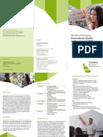 Flyer Bachelorstudiengang International Studies in Management