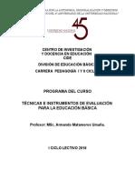 Programa Técnicas e Instrumentos de Evaluación